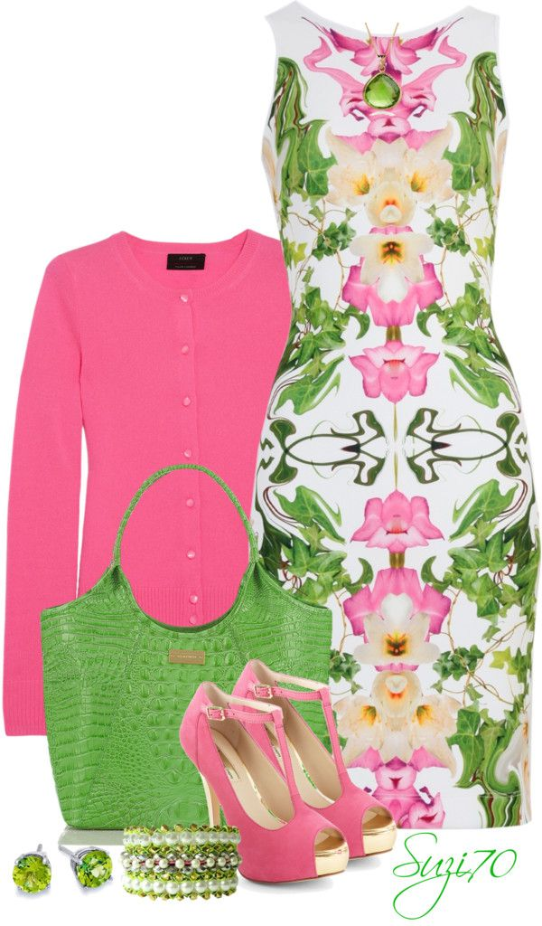 """""""Printed Day Dress"""" by suzi70 ❤ liked on Polyvore"""