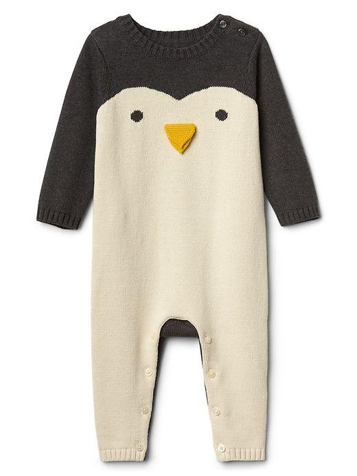 bc2340d25 Gap Baby Penguin Sweater One-Piece Penguin