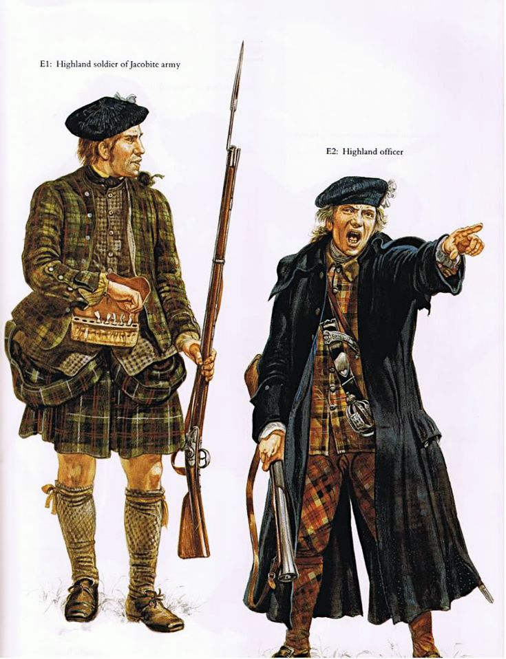 Highland Jacobite army costumes.