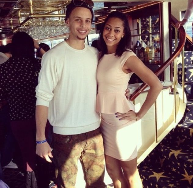 Steph and his sister, Sydel Curry