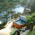 A hot tub with a view! Gorgeous!  Arctic Spas
