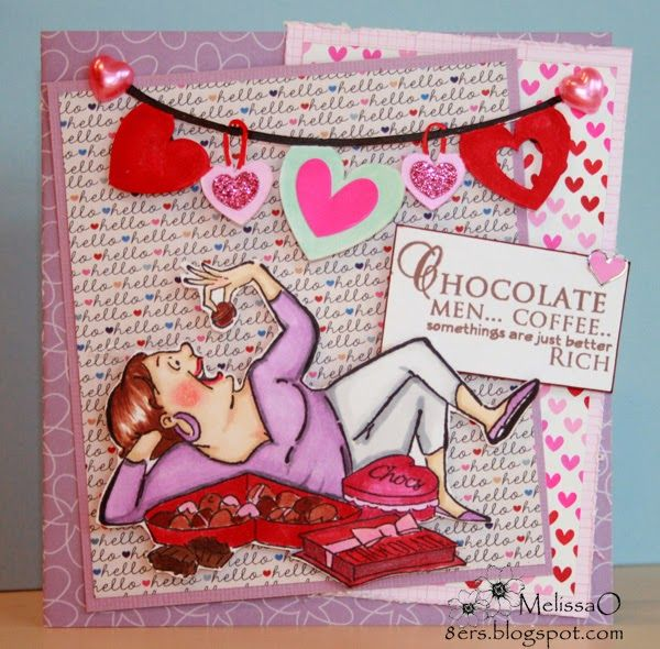Art Impressions: Ai Valentine's Day ... Love and Chocolate Set (Sku#4367) Handmade card. chocolate, coffee