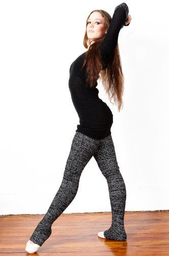 TOPSELLER! Extra Long Skinny Leg 40 Inch Stretch Knit Leg Warmers by KD dance, High Quality, Soft & Stretchy with Ruffled Top, For Lo... $10.98