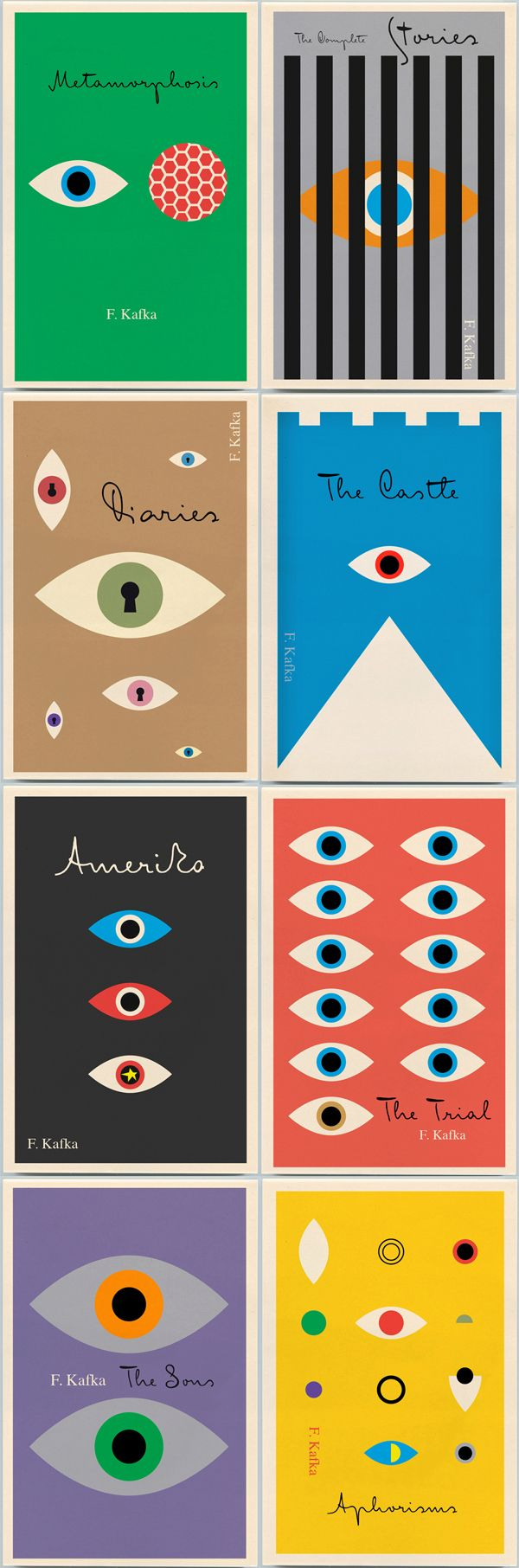 Peter Mendelsund's Kafka backlist, which we first told you about here, published by Schocken Books, 2011.