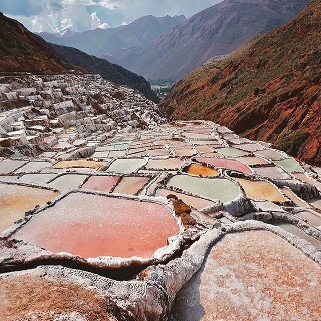 made me happy this morning. salt mines in peru! @enchanted.forest