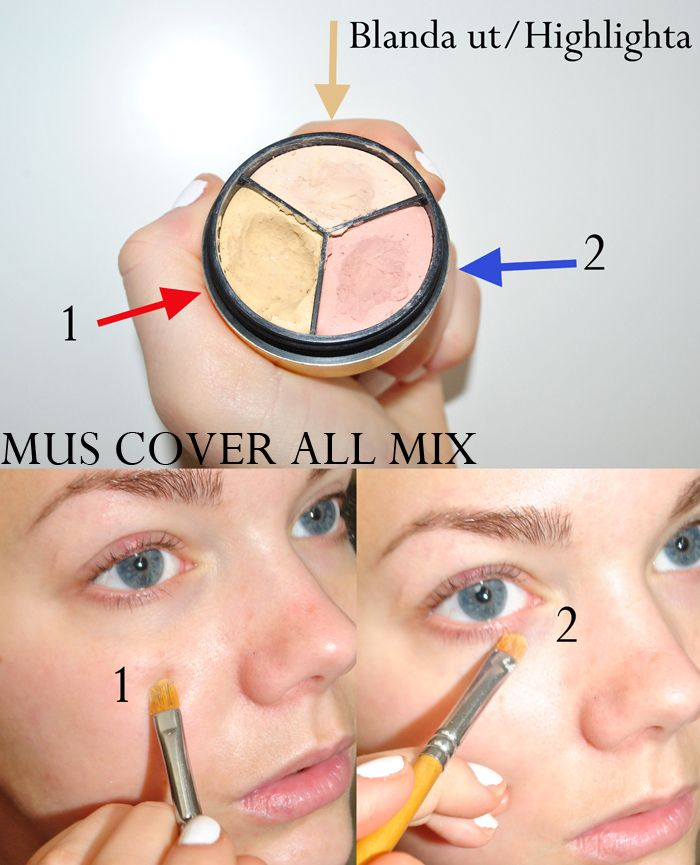 Tips On Blending Great Colors With Beige: Concealer. Make Up Store Cover All Mix -Yellow Against Red