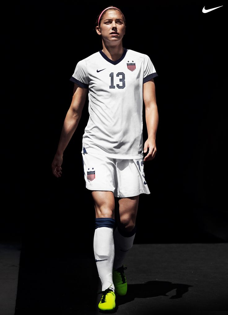 Alex Morgan in the new Nike U.S. Soccer Centennial Jersey.