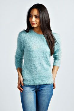 Kelis Fluffy Knit Jumper at boohoo.com