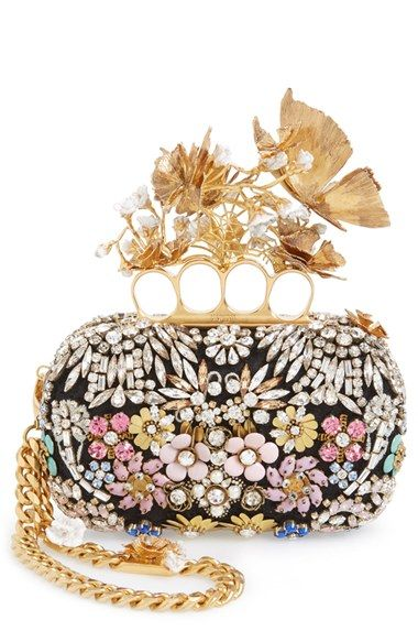 Alexander McQueen Butterfly Floral Box Clutch available at #Nordstrom