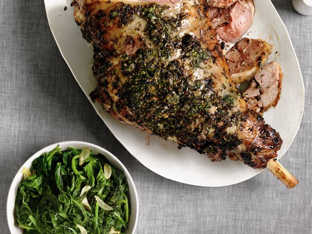 Herbed Leg of Lamb With Roasted Turnips recipe from Food Network Kitchen via Food Network