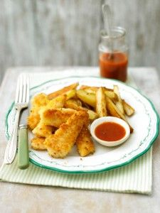A great twist on the traditional fish and chips - perfect for a TV dinner watching the Olympics!