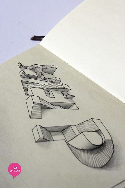 O this is so cool!  Moleskine illustration #23: Help. (typography)   Flickr - Photo Sharing!