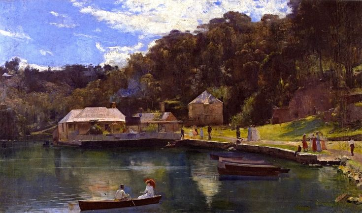 Tom Roberts - Mosman's Bay,1894. One of my favourites.