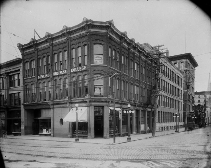 Online MIKAN no. 3319129  Gowling Business College, [Bank Street at Wellington Street, Ottawa, Ont.  2.8 km from branch  June, 1917