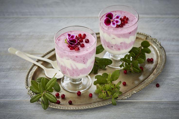 Finland´s 100 year anniversary snack, vegan lingonberry mush.