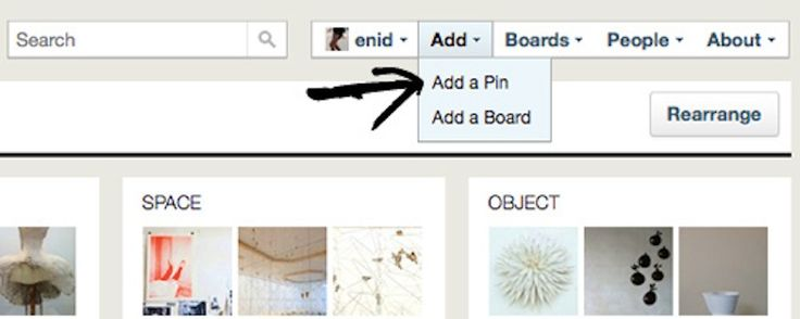 Upload Pictures Into Pins , via the Official Pinterest Blog