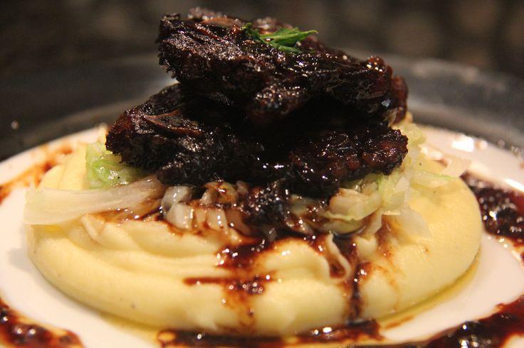 Slow Cooked Chinese Marinated Lamb Neck Chops on Mash