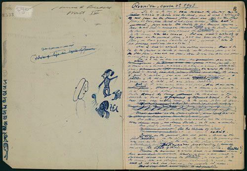 A Rare Look at Samuel Beckett's Doodle-Filled Notebooks | Brain Pickings