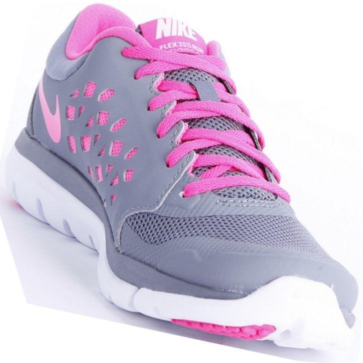 15d0d1407e9 ... Tênis Nike Flex 2015 RN MSL Feminino Cinza   Rosa ...