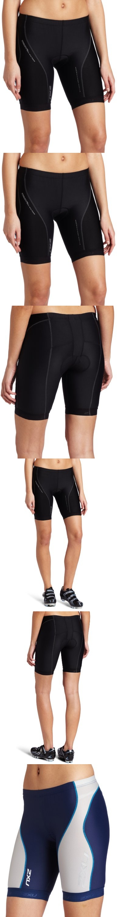 2XU Women's Long Distance Tri Shorts - This 2XU Long Distance Tri Short boast the compressive yet breathable properties of 2XU's revolutionary ICE X fabric.  Coupled with 2XU's 70D KINETIC SPEED  fabric with dimpled airflow technology and ... - Active Shorts - Sporting Goods -