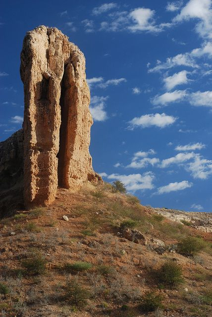 Vingerklip (Finger Rock), Damaraland, Namibia;  115 feet high;  photo by John Dera, via Flickr