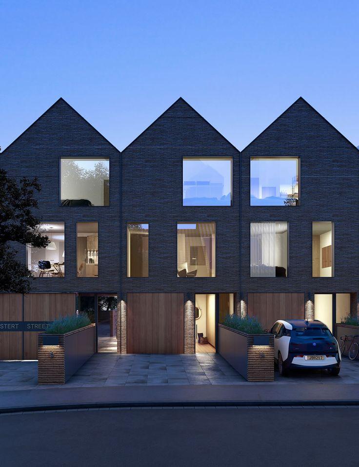 Ez a fajta sorolt haránt-nyeregtetős, fűrészfogas bütü-kialakítás kifejezetten népszerű manapság. S nem is csak a keskeny telkes beépítéseknél, hanem önálló, karakteres építészeti elemként is.