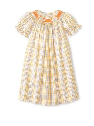 64% OFF Viva La Fete Kid's Crabs Smocked Bishop Dress (Orange Multi)