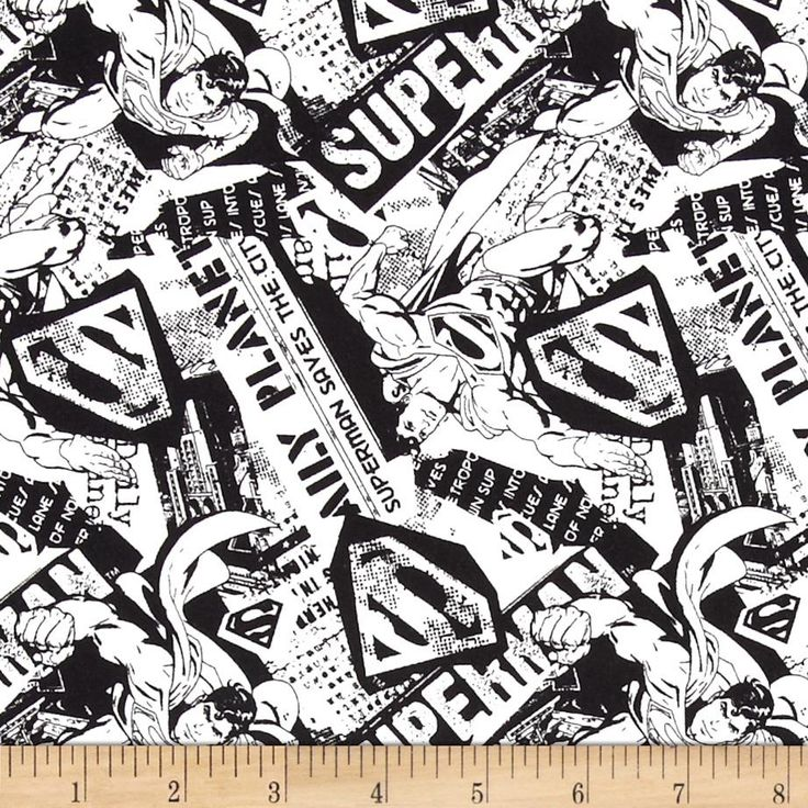Superman News White/Black from @fabricdotcom Licensed by DC Comics for David Textiles, this fabric is perfect for quilting, apparel and home décor accents. Colors include white and black.