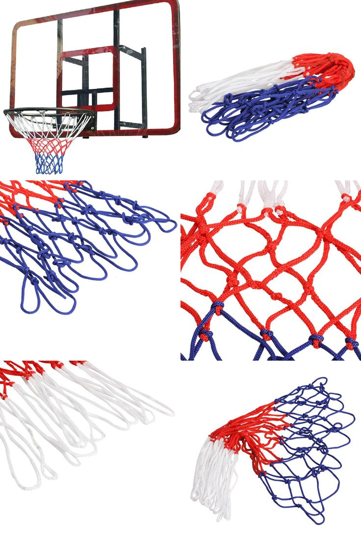 [Visit to Buy] Durable Standard Nylon Thread Sports Basketball Hoop Mesh Net Backboard Rim Ball Pum 3mm  Basketball Rim Mesh Net 12 Loops  #Advertisement