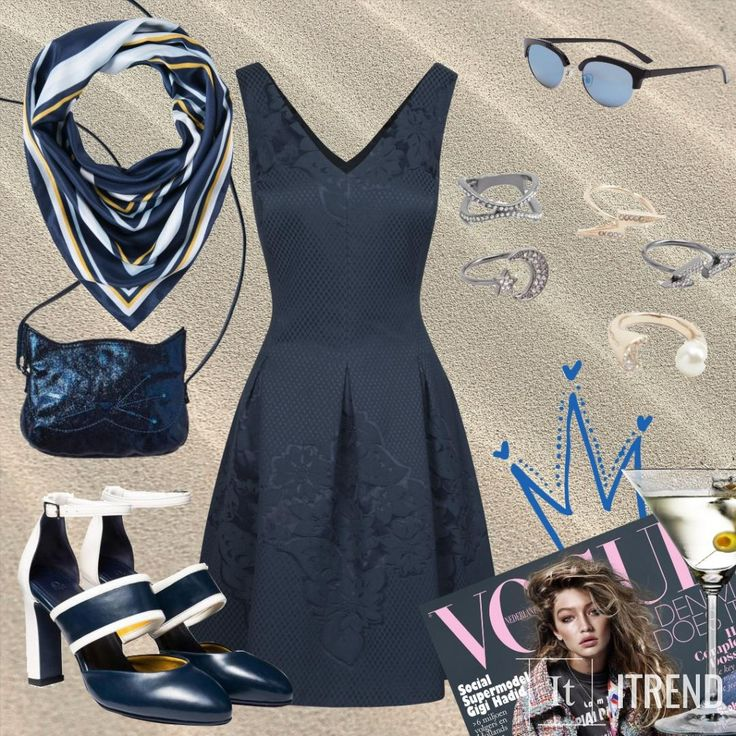 Синее платье, что бы сходить на выпускной или день рождения, а может даже на свидание)))