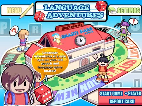 $20.99 Language Adventures, now updated with additional content targeting categories, inferences, and wh-questions, is a new spin on your old speech and language game boards! Language Adventures is a app that allows you to engage students in a contextual language intervention experience on your iPad! Through an exciting interface and bright, colorful graphics, students will develop language skills in areas for success in school.All the basics of game play- player selection, dice rolli
