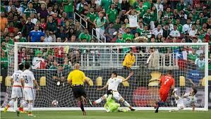 Mexico 0 Chile 7 in 2016 in Santa Clara. Alexis Sanchez scores a fine goal on 49 minutes to make it 3-0 in the Quarter Final at Copa America.