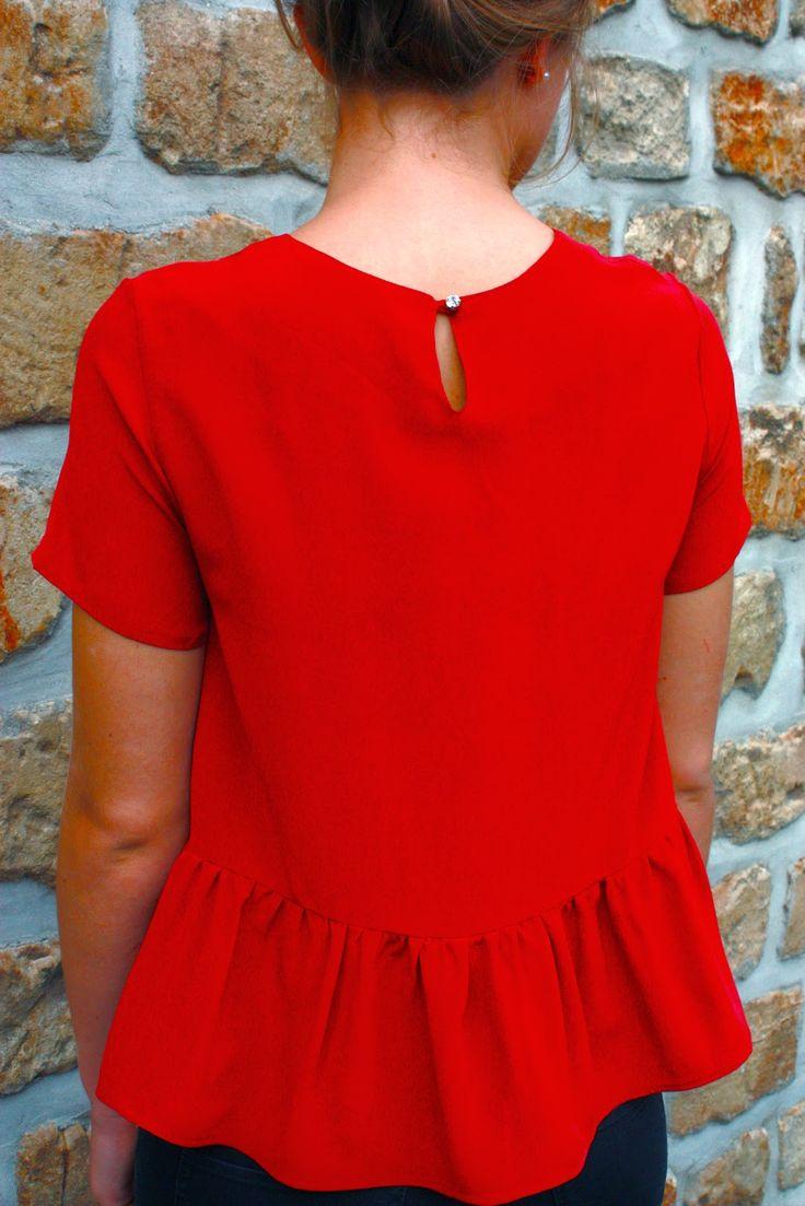 Blousette rdc viviane - soie rouge bennytex