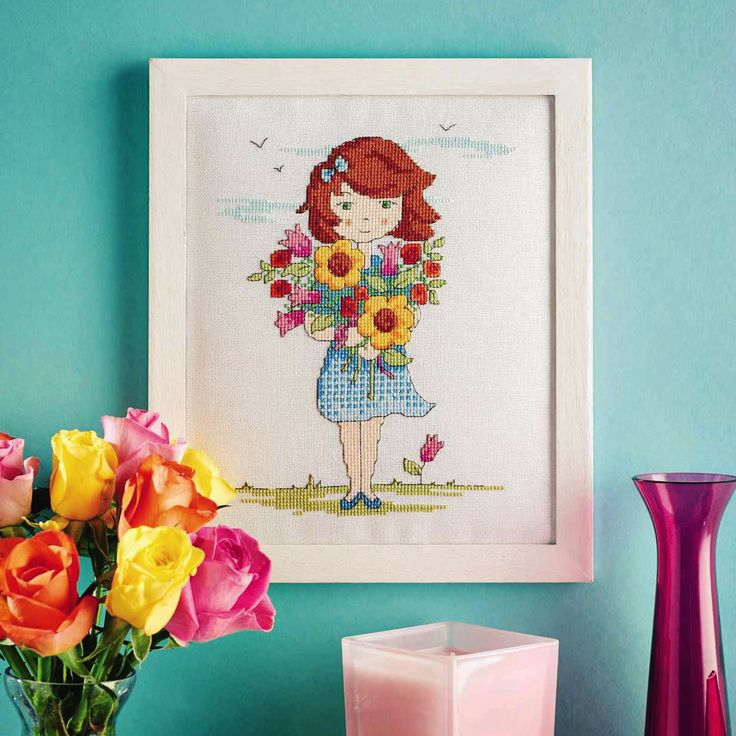 Flower Girl - Project Available in CrossStitcher Magazine 296