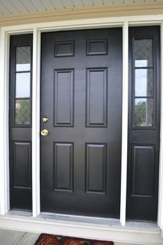 black front entrance door with sidelights - Google Search