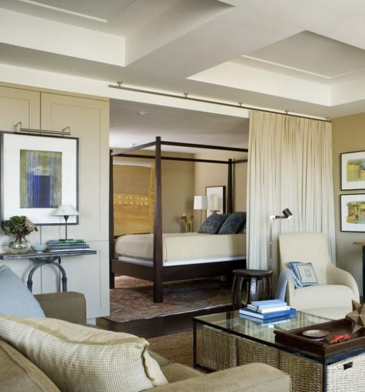 Living room bed ideas Room Ideas Its possible to use curtains to section off a bedroom. Bed For Living Room. Home Design Ideas