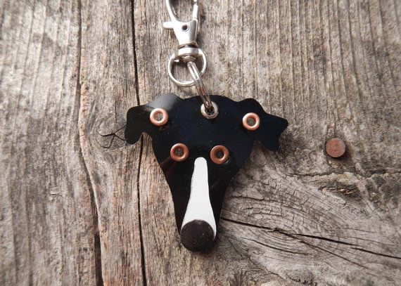 Adorable Keychain ID Key Chain Tag Greyhound Breed Dog Pet by PoochTags on Etsy.