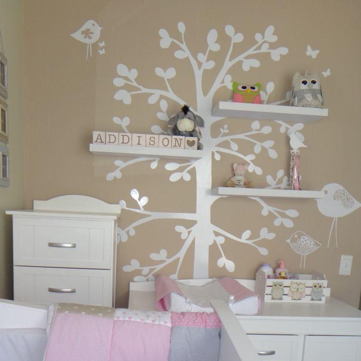 floating shelve tree vinyl wall art