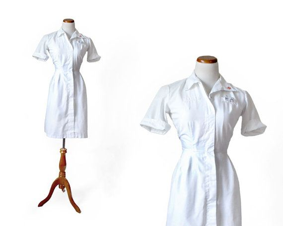 Nurse Ratched Costume / 1960s Nurse Uniform / by MinxouriVintage