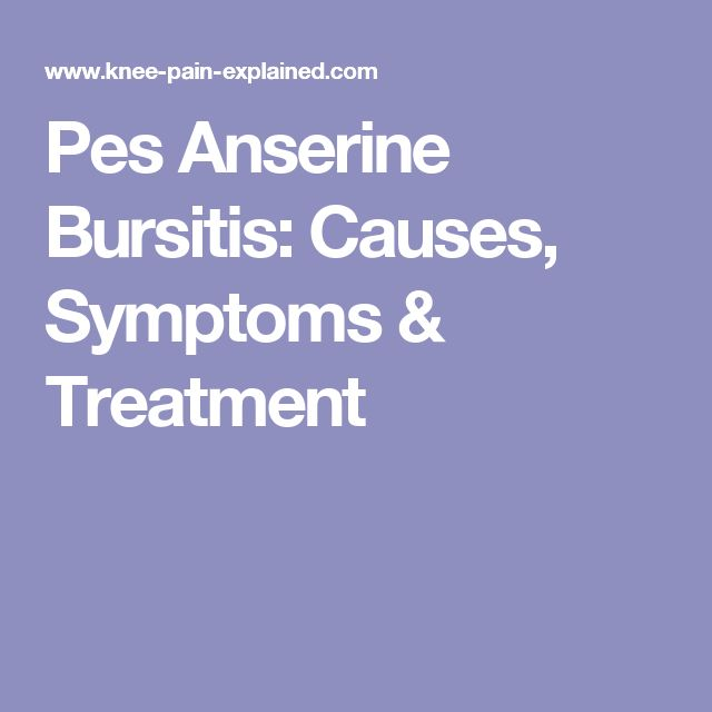 Pes Anserine Bursitis: Causes, Symptoms & Treatment