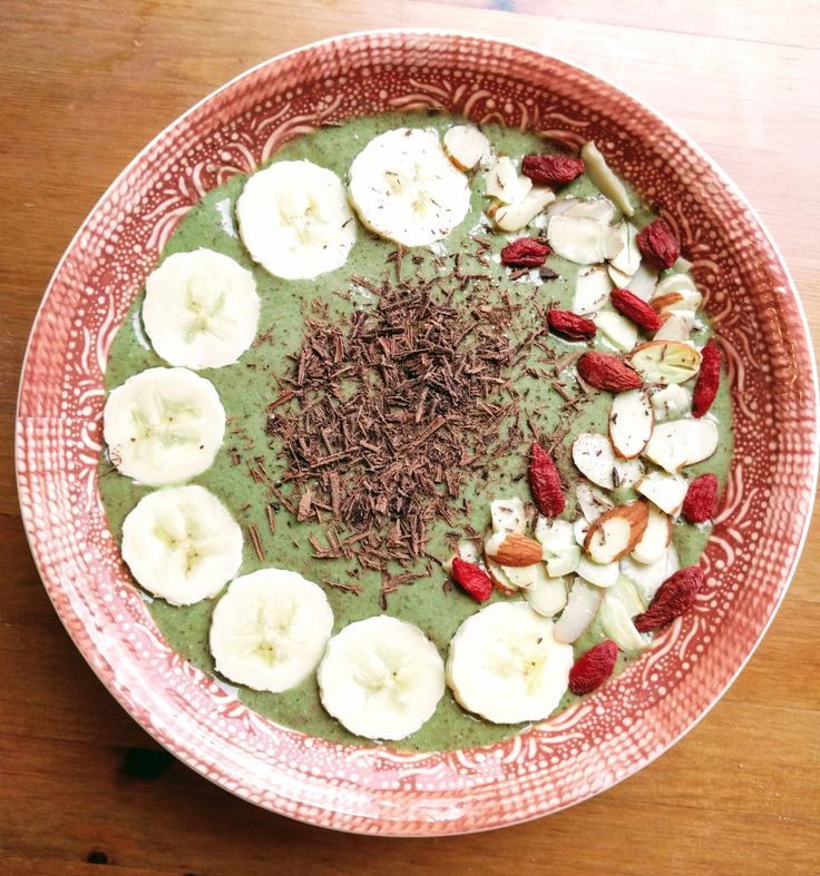Banana kale smoothie bowl recipe cooking healthy