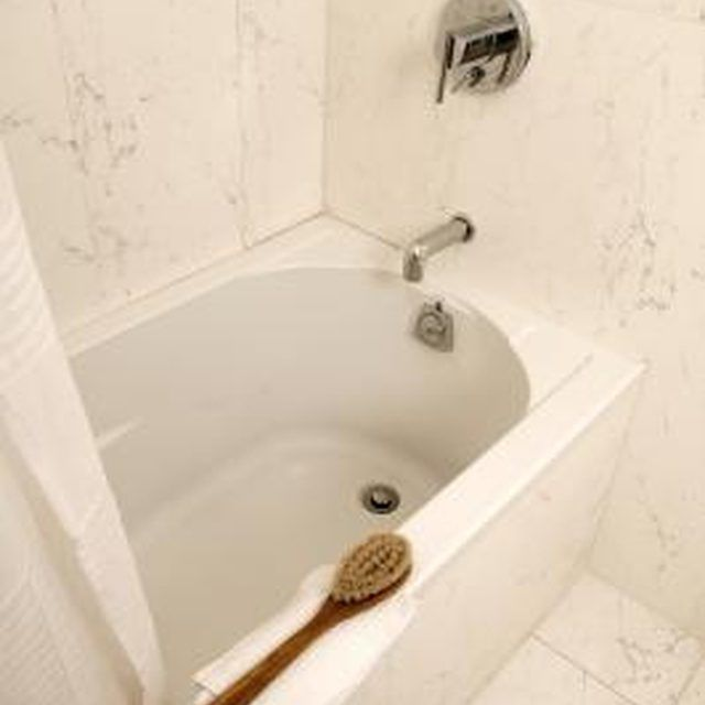 Use hydrogen peroxide to keep your plastic or fiberglass bathtub shining bright.