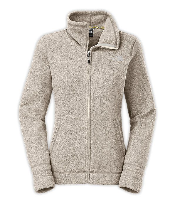 $85 Crescent Sunset Fullzip Northface Jacket -- has a dropped neckline that would be perfect for layering with hooded sweatshirts / scarves as it gets colder ♡❄❅