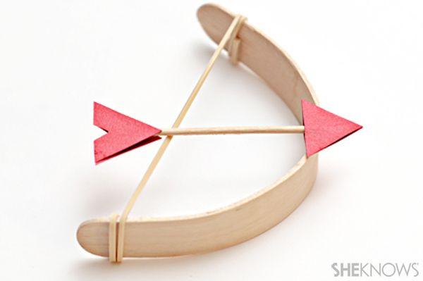 Mini, mini Arco y flecha con palitos de madera