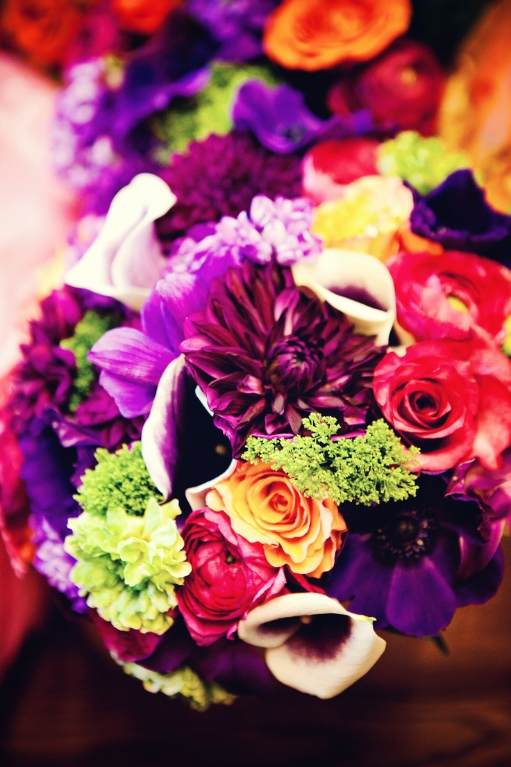 Love the different colors and types of flowers! Photo by Chris K. #MinnesotaWeddingFlorist #Flowers