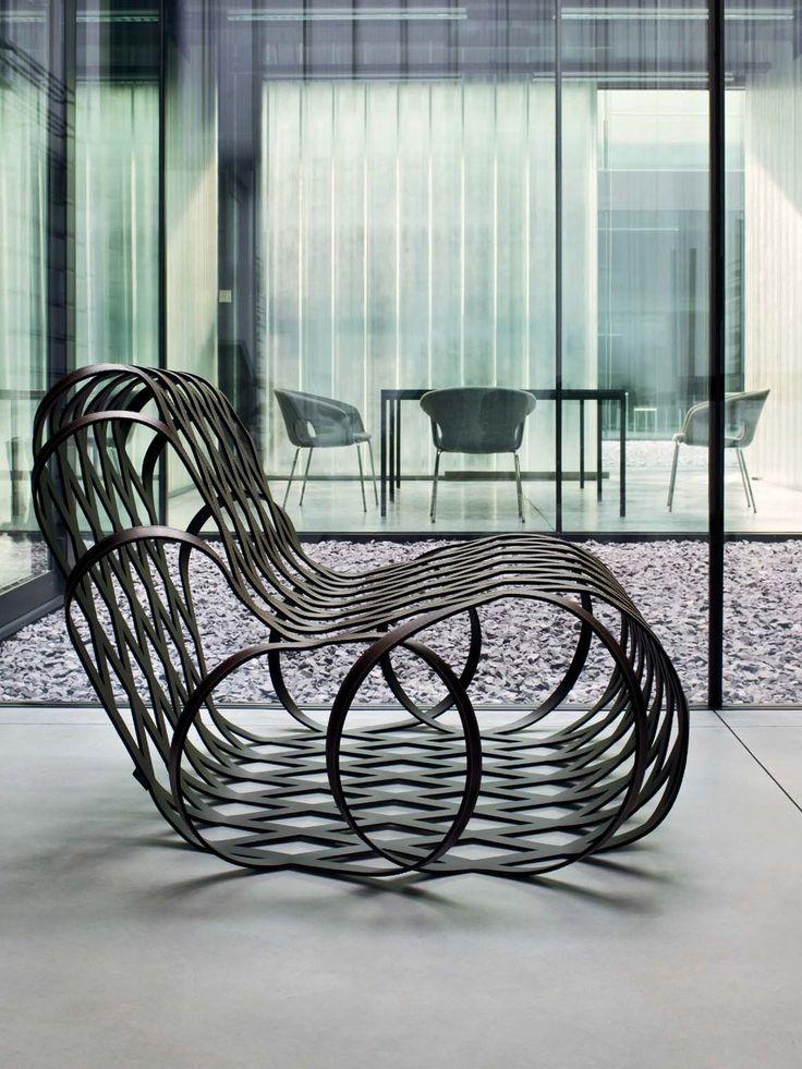 Relaxing steel armchair ARIA - @lacividina