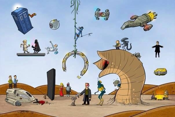 Love this picture of SciFi TV shows. Which was your favorite of all time?