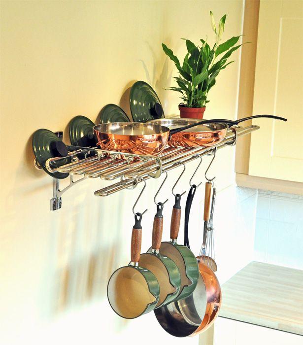 17 Best Kitchen Pot & Shelf Racks Images On Pinterest