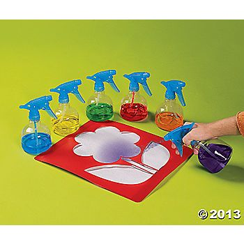6 Just Spray It Bottles, fun art for preschool and up