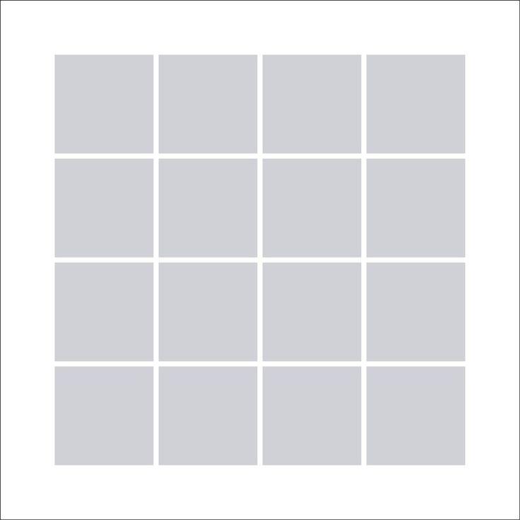 Fotocollage 50x50 | 16 Bilder Quadratisch